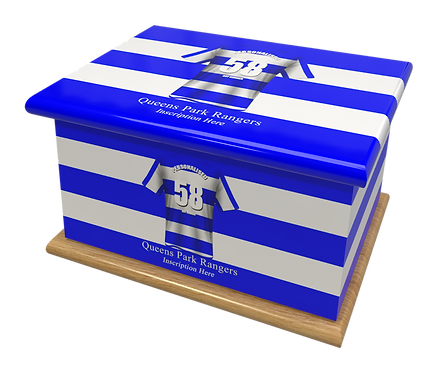 Custom Personalised Cremation Ashes Casket Urn FOOTBALL TEAM QUEENS PARK RANGERS