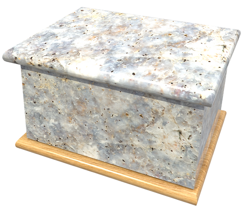 Custom Personalisd Cremation Ashes Casket MARBLE, GRANITE, ONYX, SLATE, WOOD