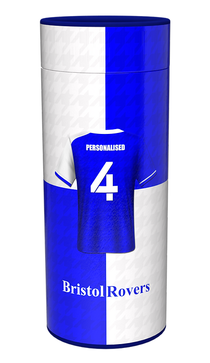 Custom Personalised Cremation Ashes Casket Scatter Tube FOOTBALL TEAM BRISTOL ROVERS