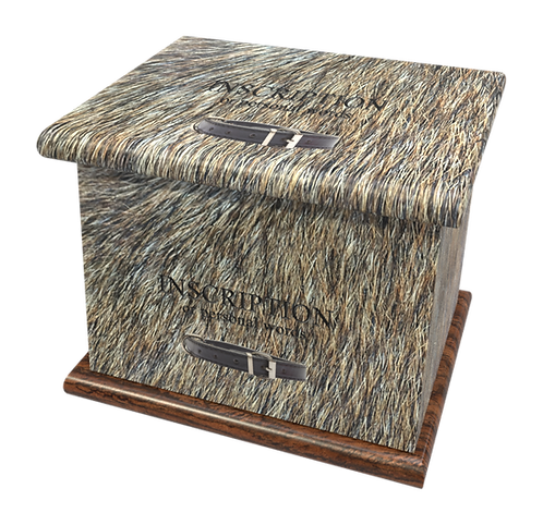 Custom Personalised PET Animal Cat Dog Ashes Casket Urn In Fur Design