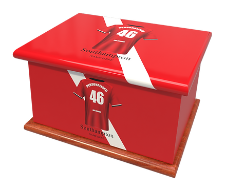 Custom Personalised Cremation Ashes Casket Urn FOOTBALL TEAM SOUTHAMPTON