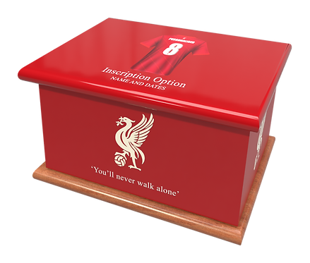 Custom Personalised Cremation Ashes Casket Urn FOOTBALL TEAM LIVERPOOL FC