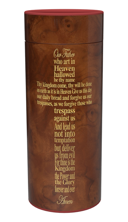 Custom Personalised Cremation Ashes Casket Urn RELIGIOUS THE LORDS PRAYER