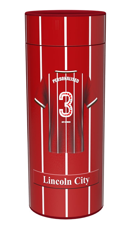Custom Personalised Cremation Ashes casket Scatter Tube LINCOLN CITY FC