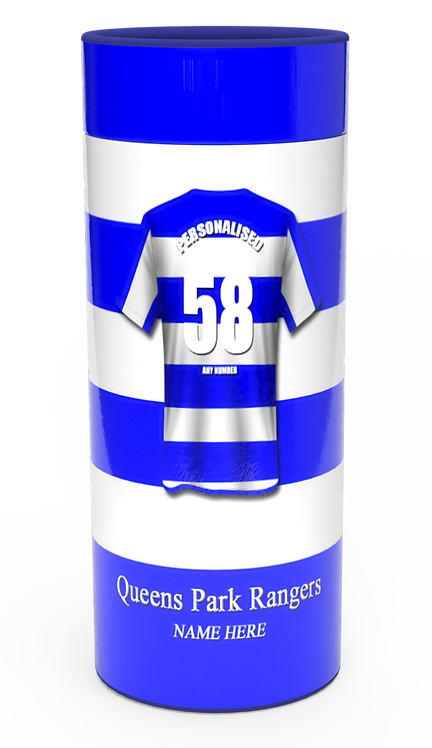 Personalised Custom Bespoke Ashes Scattering Tube Urn for Cremated Remains in four sizes QUEENS PARK RANGERS