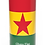 Personalised Custom Bespoke Ashes Scattering Tube Urn for Cremated Remains in Flag GHANA AFRICAN design