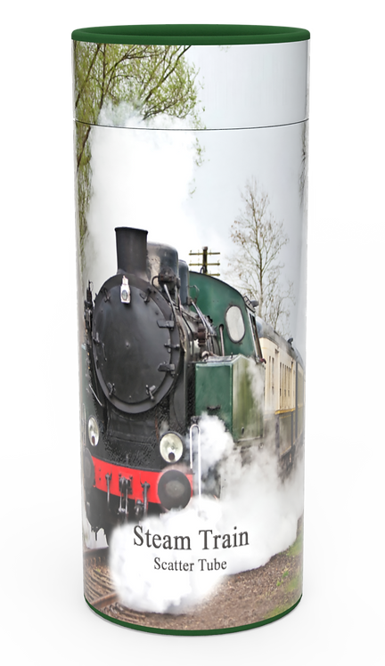 Custom Personalised Funeral Cremation Ashes Casket Urn Hobby Sport Interest STEAM TRAIN
