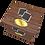 Thumbnail: Ashes Casket DARK MAHOGANY EFFECT