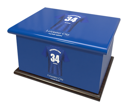Personalised Custom Cremation Ashes Caskets LEICESTER CITY FOOTBALL CLUB THE FOXES