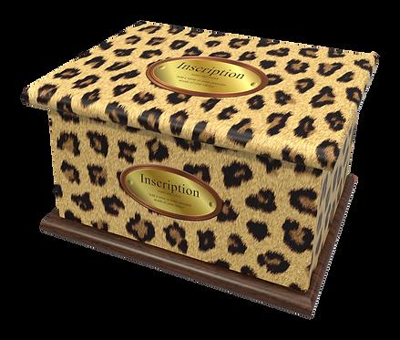 Custom Personalised Cremation Ashes Casket Urn LEOPARD ANIMAL TIGER PRINT