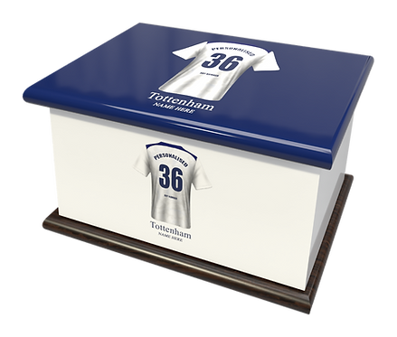 Custom Personalised Cremation Ashes Casket Urn FOOTBALL TEAM TOTTENHAM HOTSPURS
