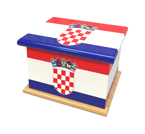 Personalised Custom CROATIA FLAG Cremation Ashes Casket