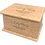 Personalised Custom MAPLE Wood Effect Cremation Ashes Casket