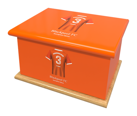 Custom Personalised Cremation Ashes Casket Urn FOOTBALL TEAM BLACKPOOL FC