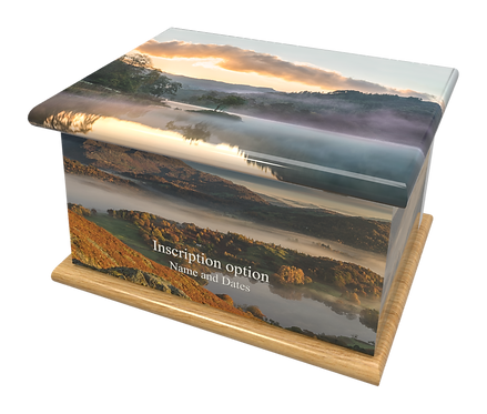 Custom Personalised Cremation Ashes Casket THE LAKE DISTRICT CUMBRIA