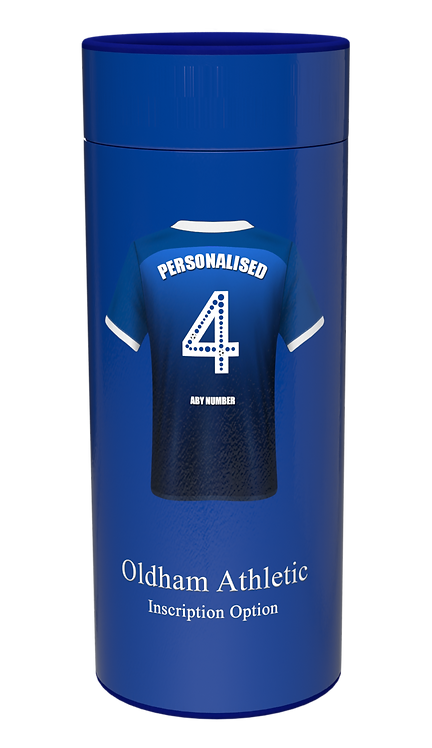 Custom Personalised Cremation Ashes Casket Scatter Tube Urn FOOTBALL TEAM OLDHAM ATHLETIC
