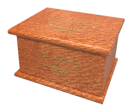 Personalised Custom LACEWOOD Effect Cremation Ashes Casket