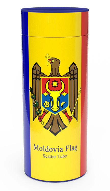 Personalised Custom Bespoke Ashes Scattering Tube Urn for Cremated Remains in four sizes MOLDOVA EASTERN EUROPEAN
