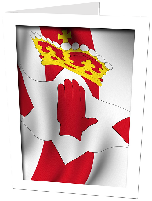 Funeral Prayer Card ULSTER FLAG