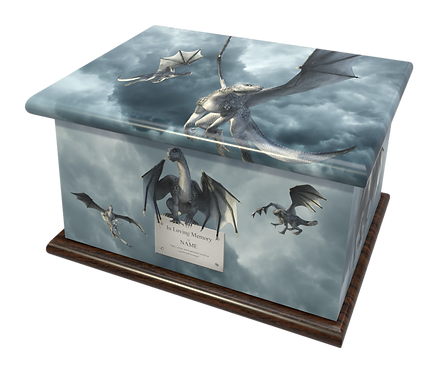 Custom Personalised Cremation Ashes Casket Urn DRAGONS