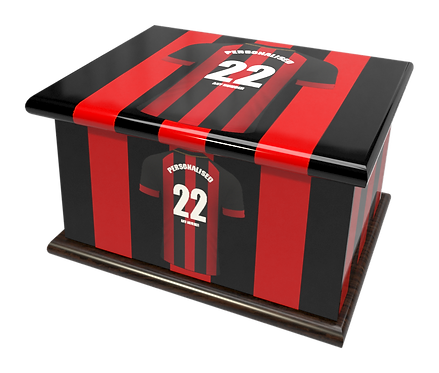 Personalised Ashes Caskets and Urns in Football Team Colours Bournemouth