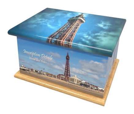 Personalised Custom Cremation Ashes Caskets and Keep-Sake Urns in a BLACKPOOL GOLDEN MILE TOWER Landscape design