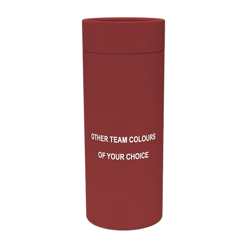 Personalised Custom Bespoke Ashes Scattering Tube Urn for Cremated Remains in four sizes in Football Team Colours