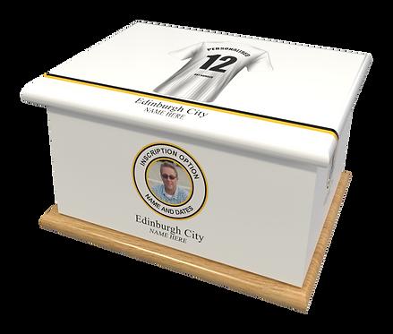 Custom Personalised Cremation Ashes casket urn FOOTBALL TEAM EDINBURGH CITY