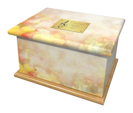 Custom Personalised Cremation Ashes Casket ROSES FLORAL FLOWERS