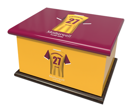 Custom Personalised Cremation Ashes Casket Urn MOTHERWELL FOOTBALL CLUB  SCOTLAND THE WELL THE STEELMEN