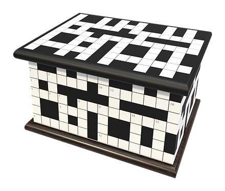 Custom Personalised Cremation Ashes Casket Urn CROSSWORD WORD GAME