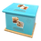 Custom Personalised PET Animal Cat Dog Ashes Casket Urn In Leather Design