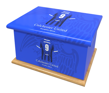 Custom Personalised Cremation Ashes Casket Urns FOOTBALL TEAM COLCHESTER