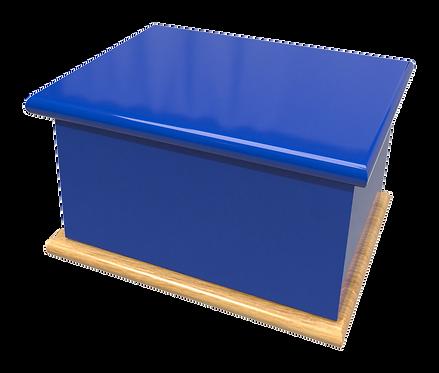 Custom Personalised Bespoke Cremation Ashes Casket TEAM ROYAL NAVY BLUE