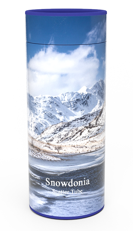 Custom Personalised Cremation Ashes Casket Urn Scenic Landscape SNOWDONIA
