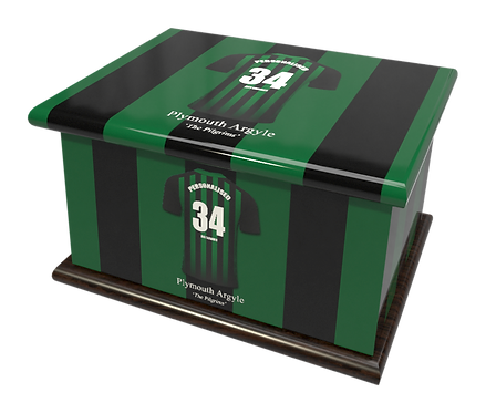 Personalised Ashes Caskets and Urns in Football Team Colours Plymouth