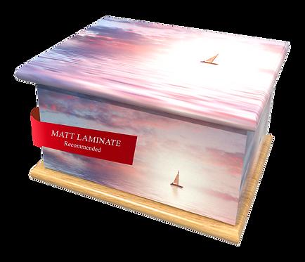 Custom Personalised Bespoke Cremation Ashes Casket FLOATING AWAY SPIRITUAL