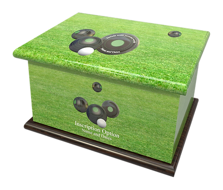 Custom Personalised Cremation Ashes Casket Urn LAWN BOWLS BOWLING