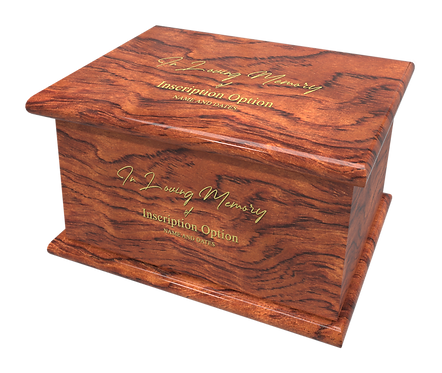 Personalised Custom GULBOURITA Wood Effect Cremation Ashes Casket