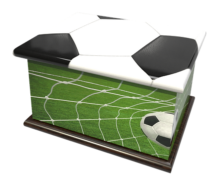 Personalised Custon Cremation Ashes Casket and Keep-Sake in FOORBALL SOCCERdesign