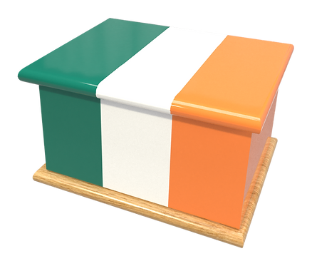 Personalised Custom IRISH EIRE FLAG Cremation Ashes Casket