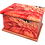 Custom Personalised Cremation Ashes Casket in FLORAL FLOWER RED GERBERA design