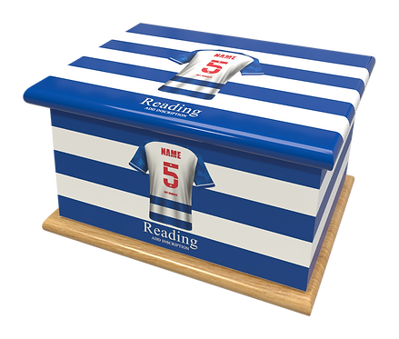 Custom Personalised Cremation Ashes Casket Urn FOOTBALL TEAM READING