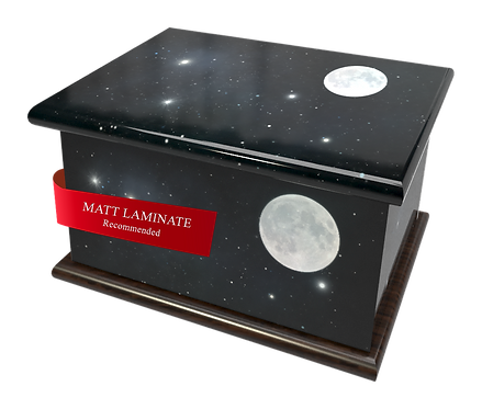 Custom Personalised Bespoke Cremation Ashes Casket STARS SPACE MOON SOLAR SYSTEM