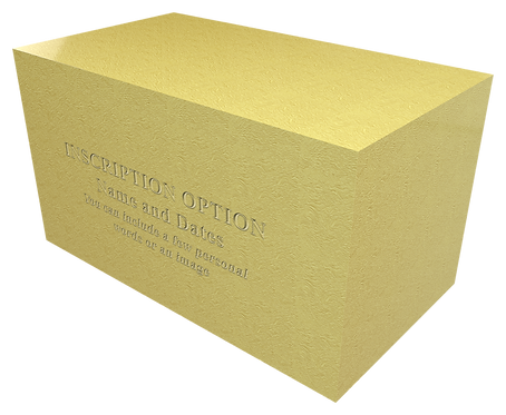 Ashes Caskets and Urns for Cremated Remains in Metal effect GOLD LEAVE SOLID GOLD FOIL