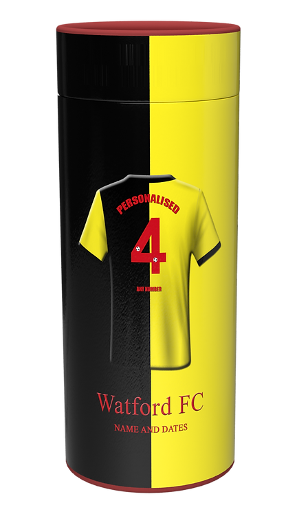 Custom Personalised Cremation Ashes Casket Urn Scatter tube FOOTBALL TEAM WATFORD