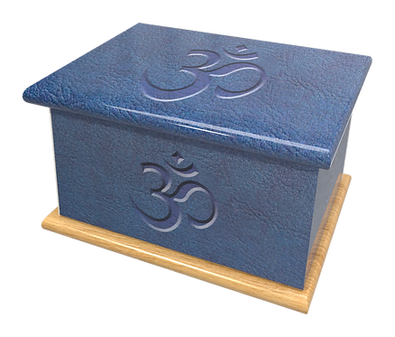 Personalised Custom Cremation Ashes Caskets and Keep-Sake Urns in a Spiritual Relgious HINDU design