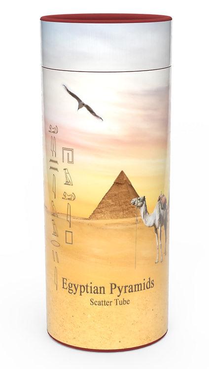 Custom Personalised Cremation Ashes Casket Urn Scenic Landscape EGYPTION PYRAMIDS
