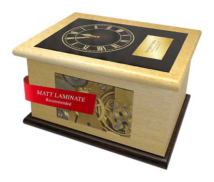 Custom Personalised Cremation Ashes Caskets Containers and Urns CLOCK