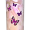Custom Personalised Cremation Ashes Casket Scatter tube VIOLET FLOWERS BUTTERFLIES